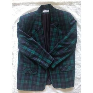 Alfred Dunner Wool Plaid Jacket
